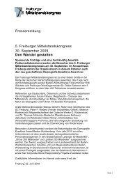Pressemeldung 5. Freiburger Mittelstandskongress 30. September ...