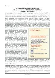 30 Jahre Forschungsgruppe Meilensteine 60. Ausgabe unseres ...