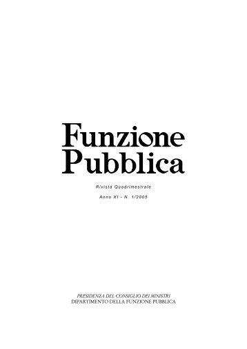 Rivista n. 1 in pdf - Dipartimento Funzione Pubblica