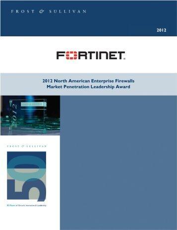 Enterprise Firewall Market Penetration Leadership Award - Fortinet