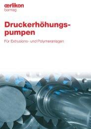Druckerhöhungs- pumpen - Oerlikon Barmag - Oerlikon Textile