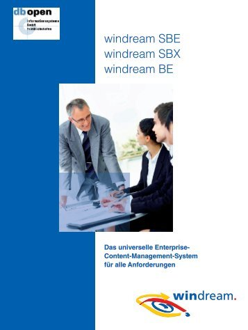 windream SBE-SBX-BE - db open Informationssysteme GmbH