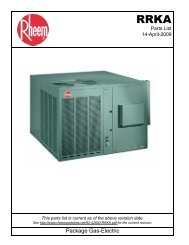Package Gas-Electric - Fox Appliance Parts of Macon, Inc.