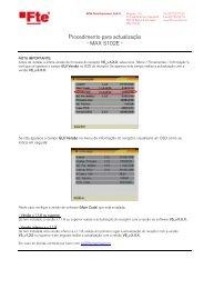 Procedimento para actualização - MAX S102E - - FTE Maximal