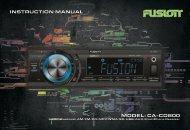 MODEL: CA-CD800 INSTRUCTION MANUAL - Fusion