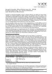 VFT-Mischfutter-Test Nr. 46/09 - Der Verein Futtermitteltest (VFT)