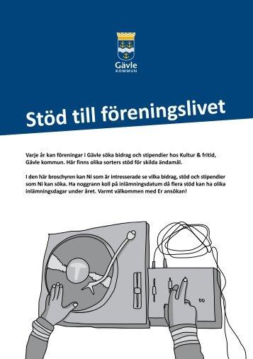 Broschyr: Stöd till föreningslivet - Gävle kommun