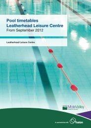 Pool timetables Leatherhead Leisure Centre - Fusion Lifestyle