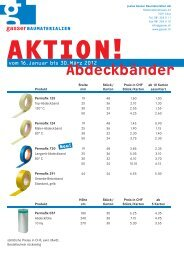 Abdeckbänder - Gasser Baumaterialien AG