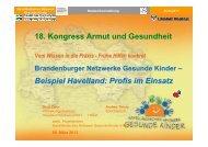 WS5_ Brandenburger Netzwerke Gesunde Kinder