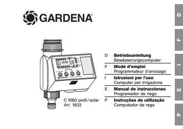 OM, Gardena, Programador de riego, Art 01833-20, 2007-06