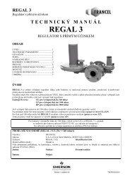 REGAL 3 - GAS-HUTIRA SKUTEČ sro