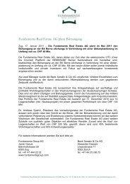 Press Release - Fundamenta Real Estate AG