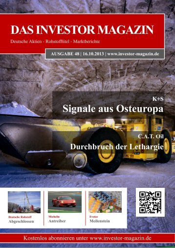 Das Investor Magazin - Ausgabe 48