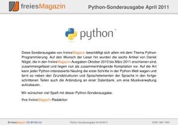 Python-Sonderausgabe 04/2011 als PDF - freiesMagazin
