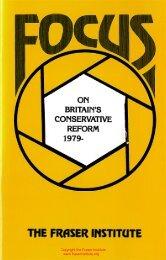 On Britain's Conservative Reform, 1979- - Fraser Institute