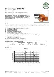 Ölbrenner Type: BT 100 A2 - Garvens