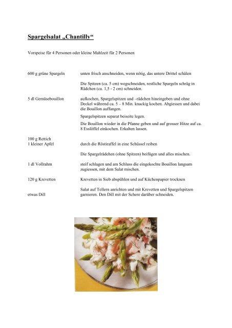 "Spargelsalat ""Chantilly"" - Herrenkochklub ""Gabelstadler"""