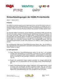 Einkaufsbedingungen der HABA-Firmenfamilie - Qiéro!