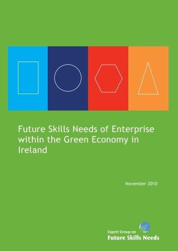 Future Skills Needs of Enterprise within the Green Economy in Ireland