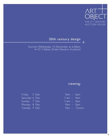 20th century design viewing: - Art+Object