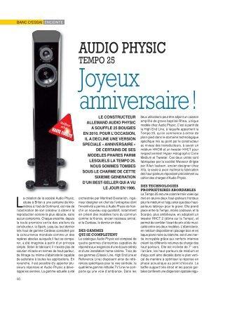 audio physic:optoma
