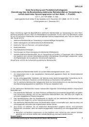 Erste Verordnung zum Produktsicherheitsgesetz - Gewerbeaufsicht ...