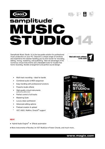 Samplitude Music Studio 14 is the top-grade solution for - Icecat