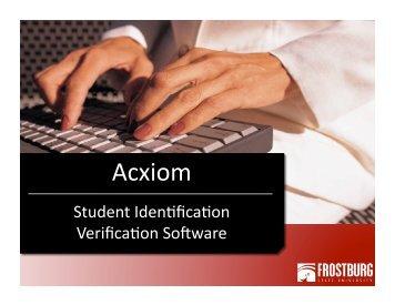 Acxiom - Frostburg State University