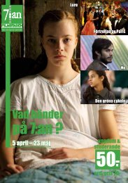 Programblad för Bio 7:an april-maj
