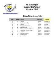 Ergebnisliste - Gautinger Sportclub e.V.