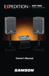 Owner's Manual - Samson
