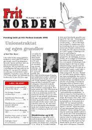 Unionstraktat og egen grundlov - Frit Norden