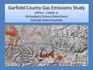 CSU proposed study - Garfield County, Colorado