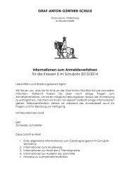 Informationen zum Anmeldeverfahren 2013 - Graf-Anton-Günther ...