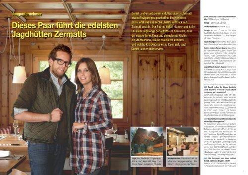 Dieses Paar führt die edelsten Jagdhütten Zermatts - Hotel & Gastro ...