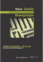 Vollversion (2.52 MB) - Forschungsjournal Soziale Bewegungen