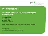 Die Basisstufe – - Universität Bremen