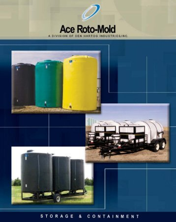Ace Roto-Mold liquid storage tanks