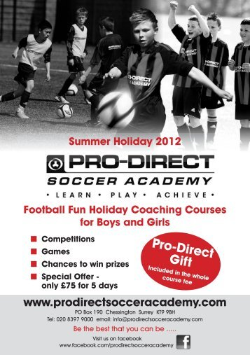 Summer Holiday 2012 Pro-Direct Gift - Fusion Lifestyle