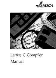 Lattice C Compiler Manual - GameTronik
