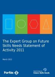 EGFSN Statement of Activity 2011 - Skills Ireland