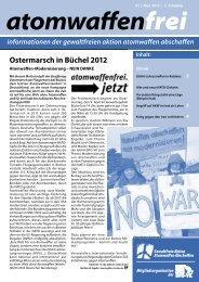 Atomwaffenfrei 2012 - Gewaltfreie Aktion Atomwaffen Abschaffen