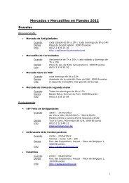 Mercados y Mercadillos en Flandes 2012 - Flandes y Bruselas