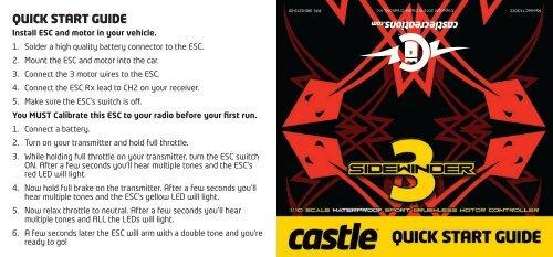 Sidewinder 3 Quick Start Guide - Castle Creations