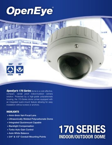 OpenEye's 170 Series - Galaxy Control Systems