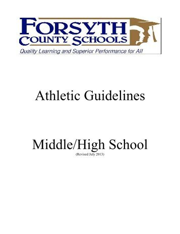 2013-14 Guidelines - Forsyth County Schools
