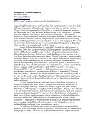 Bilingualism and Multilingualism - Gallaudet University