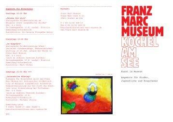Kunst im Museum Angebote für Kinder, Jugendliche und Erwachsene
