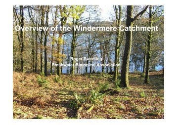 Overview of the Windermere Catchment - FreshwaterLife
